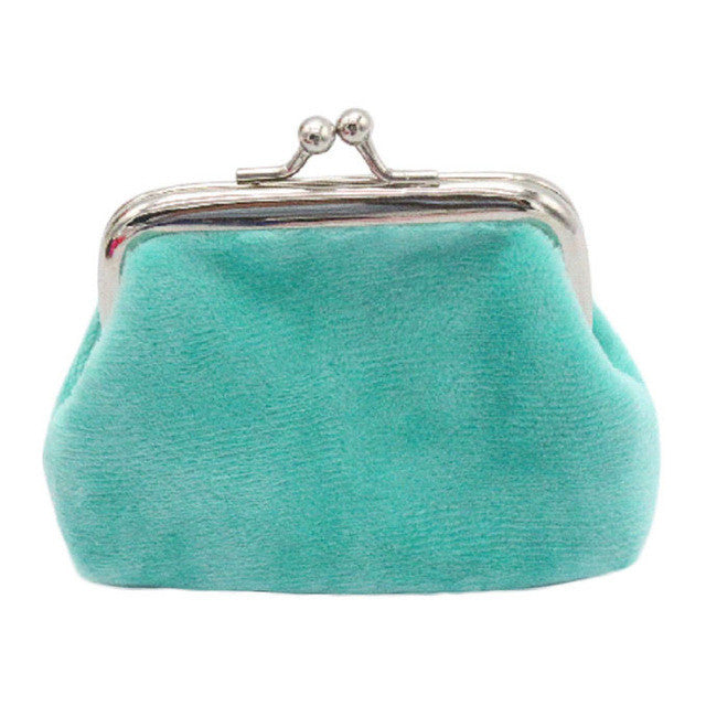Vintage Turquoise Corduroy Coin Purse