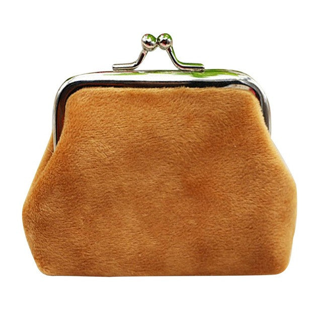 Vintage Tan Corduroy Coin Purse
