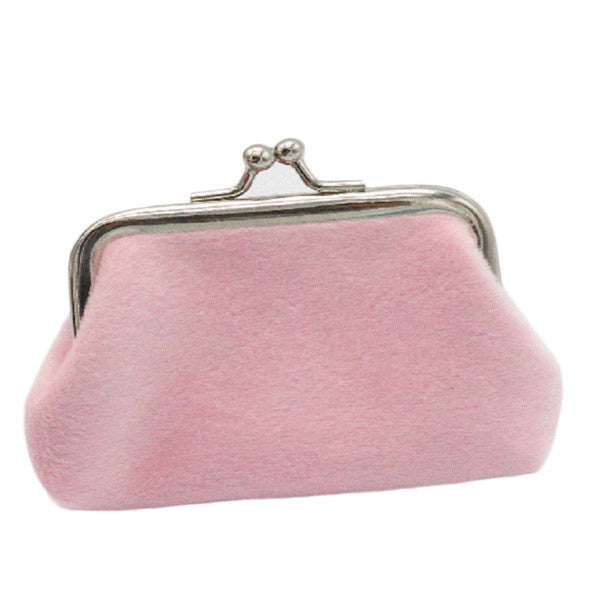 Vintage Pink Corduroy Coin Purse