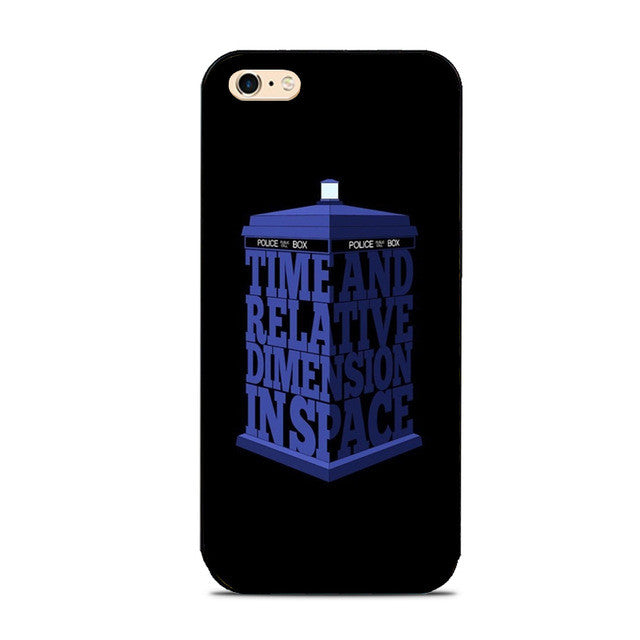 Time And Dimension Tardis Dr. Who Phone Case For iPhone 7 7Plus 6 6s Plus 5 5s 5c SE 4s