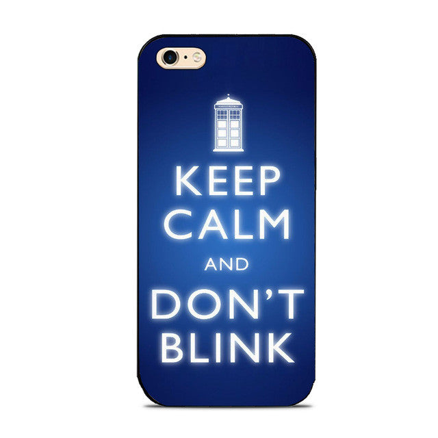 Keep Calm Tardis Dr. Who Phone Case For iPhone 7 7Plus 6 6s Plus 5 5s 5c SE 4s
