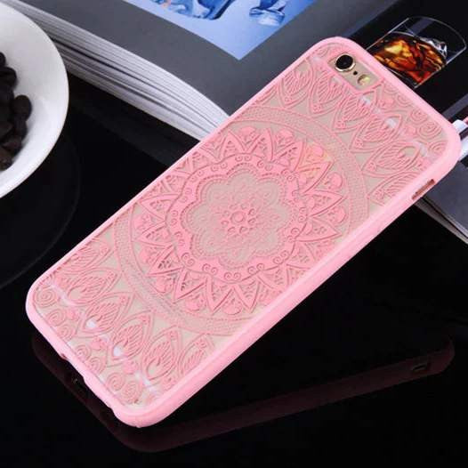 Pink lacy Phone Case For iPhone 6 6s Plus, 5SE