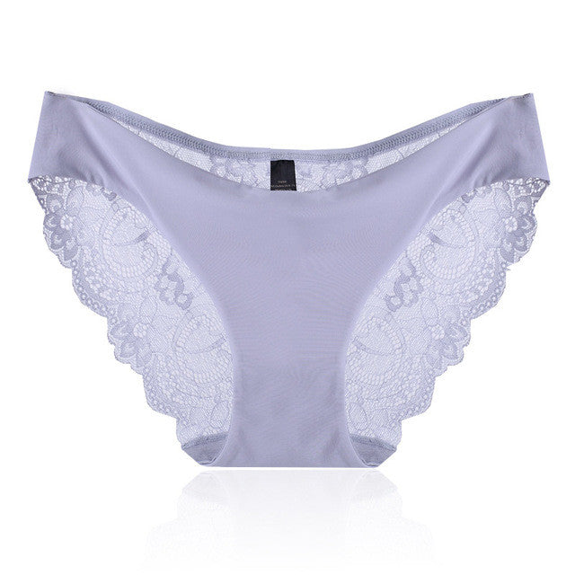 Sexy Pretty Light Blue Lace Low Rise Panty