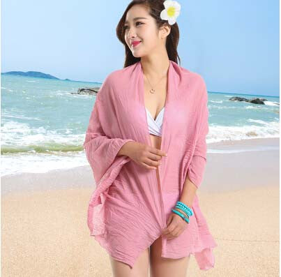 Sexy Sarong Summer Bikini Powder Pink Cover-up