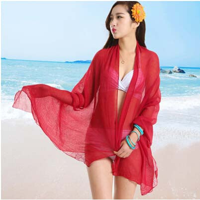 Sexy Sarong Summer Bikini Red Cover-up