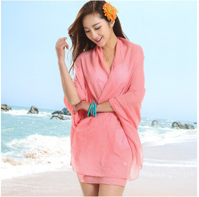 Sexy Sarong Summer Bikini PInk Cover-up