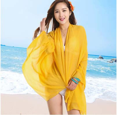 Sexy Sarong Summer Bikini Yellow Cover-up