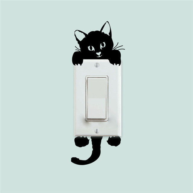 Original Cute Light Switch Sticker! Funny Kitty!