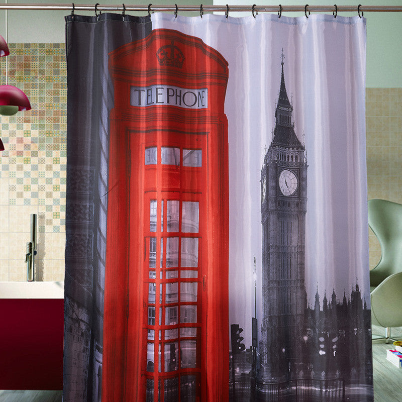 Big Ben London Red Booth Shower Curtain