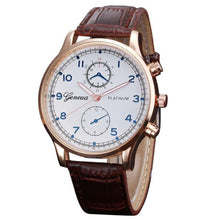 New Fashion Casual Men's Leather Business Watch