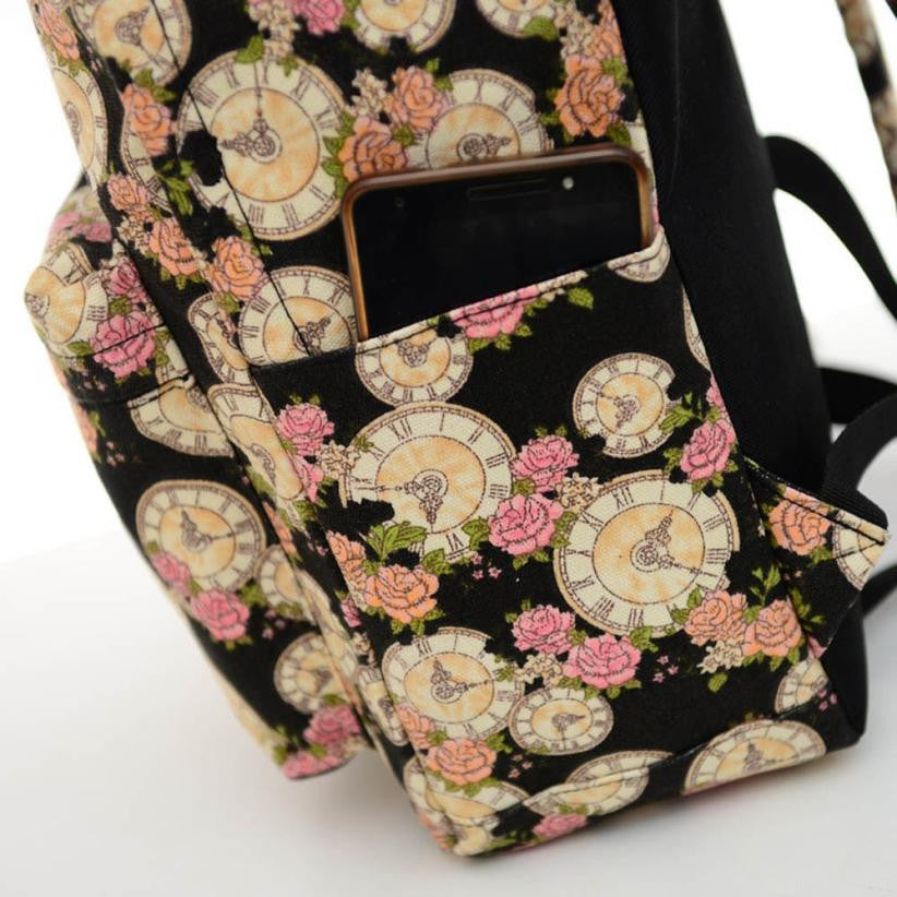 Pretty and Nostalgic Vintage Backpack  Pocket for Cell too!!
