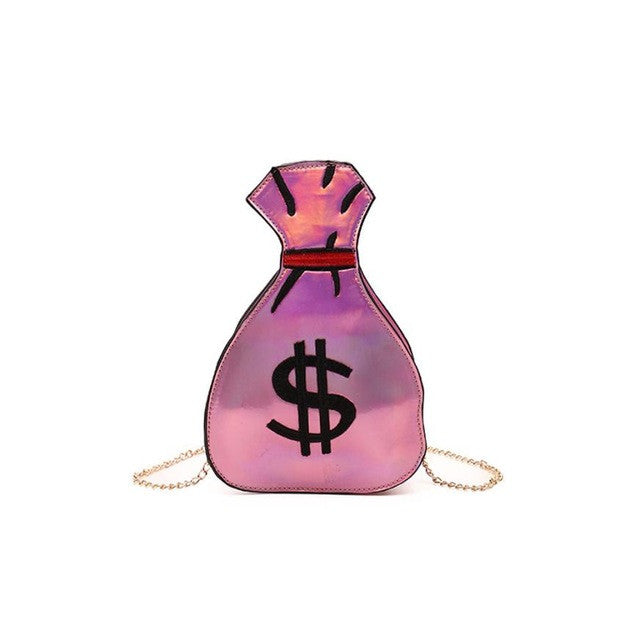 $ One of Kind $ Original Money Bag $ Crossbody/Satchel Over Shoulder Chain/ Lots Slots Inside! For CellPhone/Keys and More! Pink