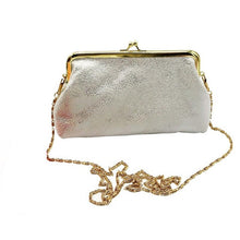 Vintage With A Twist of Sparkles!  Beautiful Crossbody Clutch With Pretty Gold Chain Strap  BLACK