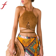 Hippie Bustier Tops Black / Brown