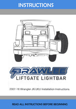 Brawlee™  Jeep Wrangler LED Rear Glass Lift Gate Dome Light Bar for 96-19 Hardtops Factory look easy install Great for Camping Loading Tailgating