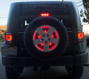 Brawlee Jeep Spare Tire Bright led Brake Light Fits 07-18 JK/JKU with hardware Easy install