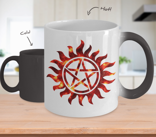 Supernatural Star Mug...Best Unique Funny Novelty Gag Birthday Gift Coffee Mug for Mom, Dad, Brother, Sister, Son, Daughter, Boyfriend, Girlfriend, Him, Her, Husband, Wife or Friend 11oz and 15oz Avaialable - Unique Novelty Gifts
