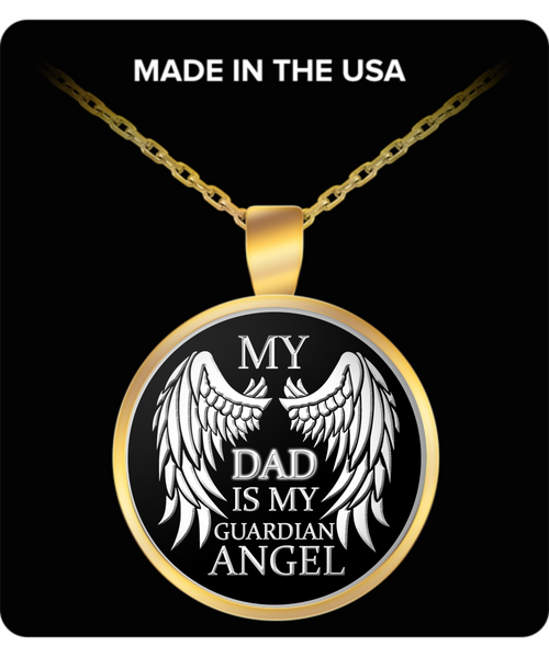 My Dad Is My Guardian Angel Keepsake - Unique Novelty Gifts