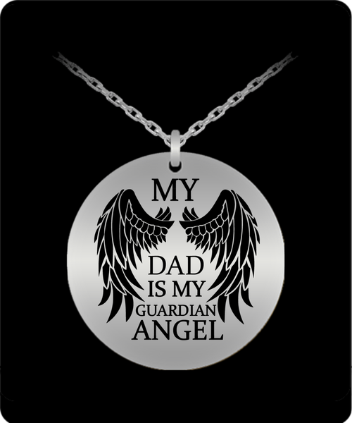 My Dad Is My Guardian Angel Rememberance Necklace