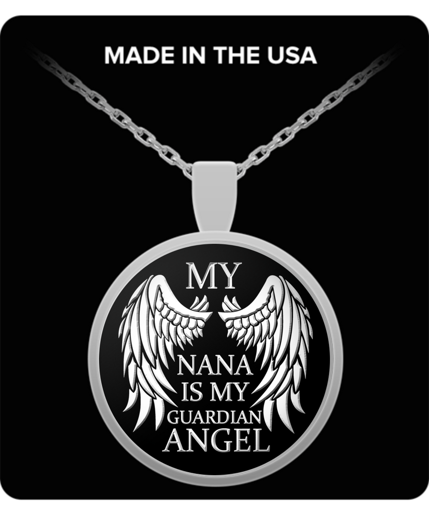 My Nana Is My Guardian Angel Necklace - Unique Novelty Gifts