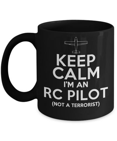 RC Pilot..Best Unique Funny Novelty Gag Birthday Gift Coffee Mug for Mom, Dad, Brother, Sister, Son, Daughter, Boyfriend, Girlfriend, Him, Her, Husband, Wife or Friend 11oz and 15oz Avaialable - Unique Novelty Gifts