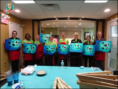 Corporate Paint & Pour Parties | Book Your Event