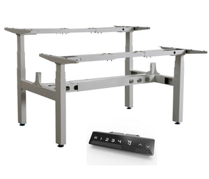 Infinity 3 Stage Leg, 4 Motor, 120kg lifting weight each desk, 4 Memory Back to Back (Frame only, screen not included)