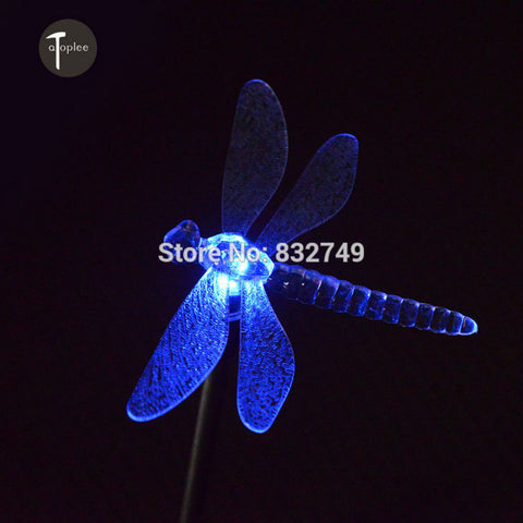 1 PCS Solar LED Panel Light Art Deco Style Rainproof Outdoor Garden Lawn Landscape Lamps Dragonfly Sharp LED Solar Lights