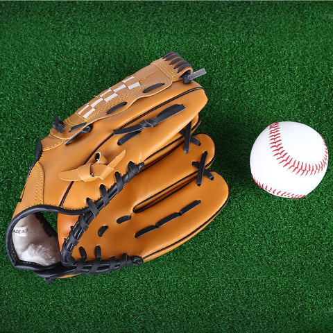 1 Pcs Baseball Glove Professional Brown Left Hand Softball Baseball Glove For Practice Baseball Outdoor Sport Baseball Equipment