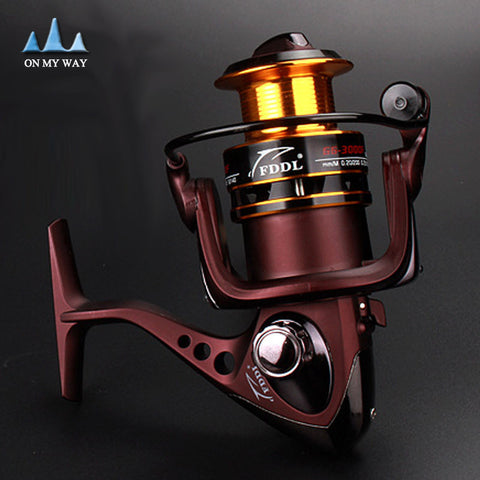 10+1 Ball Bearings Spool Spinning Reel 3000 Series Aluminum Carp Fishing Reel 5.1:1 Molinete Pesca Bait casting Reels