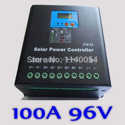 100A 96V Solar Charge Controller,  96V Battery Regulator 100A for 10KW PV Solar Panels Modules,LED&LCD Display,Dual-fan cooling
