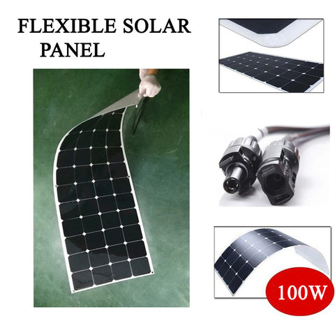 100w solar panel flexible/solar panel thin film/solar panel 100w/monocrystalline solar cell 100w