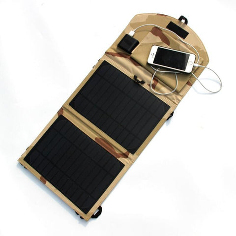 10W Foldable Solar Panel Charger Universal Camping outdoor travel Solar Charger For iPhone Dual USB Output Charger Free Shipping