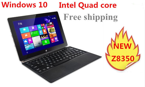 10inch mini laptop Windows 10  netbook Z8300 quad core  processor touch capacitive screen dual cameras notebook computer