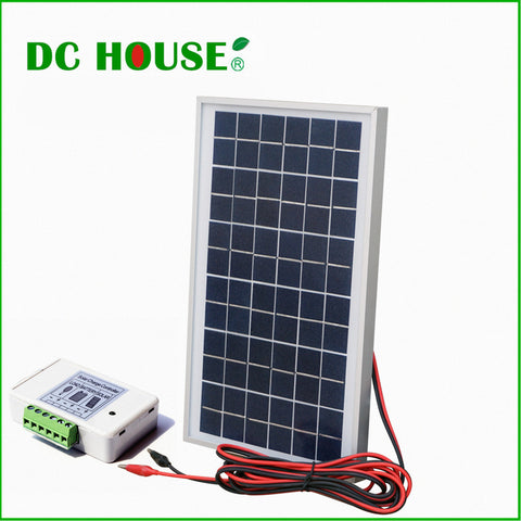 10w 18V Solar Panel Off-Grid Solar System Complete Kit For DC 12v Appliance