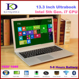 "13.3"" Powerful Intel i7 5th Generation Laptop Computer, Ultrabook, 4GB RAM 64GB SSD, 1920*1080, Full Metal Case, 8 Cell Battery"