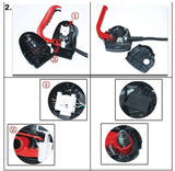 1400w Electric Household Electric Lawn Mower Machine Reel Mowers Brush Cutter Grass Cutter Mowing Machine With EU Plug