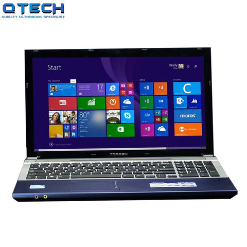 "15.6"" Game Ultraboook 8GB RAM 128GB SSD 4 Core CPU Windows 10/7 DVD Metal Laptop PC Hebrew AZERTY Spanish Russian Keyboard"