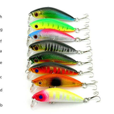 1PCS Super Quality 7cm 3D eyes Details about Fishing Lures Spinner Baits Crankbait Assorted Fish Tackle Hooks Decc26