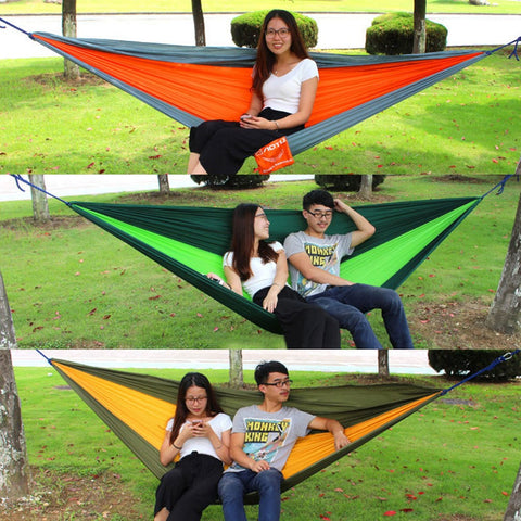 2.6*1.4M Outdoor Home Garden Tree Swing Hammock Bed Sleeping for 2 Person New Arrival