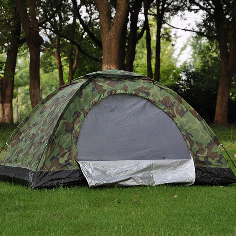 2 People Outdoor Camping Camouflage Tents Portable Beach Fishing Tent With Bag For Sports Hiking Climbing Tente