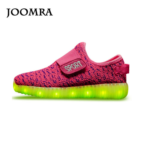 2016 Baby GirlsLED Light Sport Sneakers, 7 LED Colors Children USB Charging Sneakers, Kids Flashing Lights Running Shoes