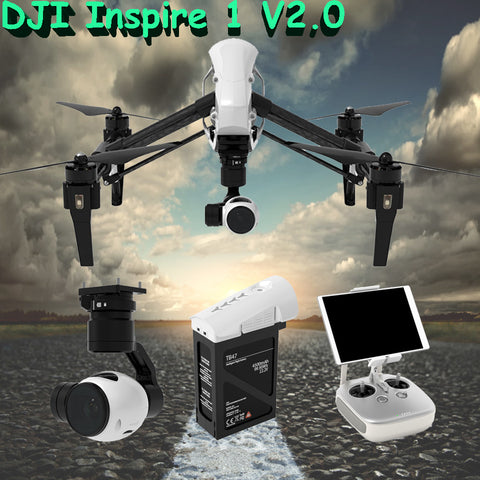 2016 DJI Inspire 1 V2.0 RC Drone with 4K Camera and 3-Axis Gimbal Remote Control RC Quadcopter RTF helicopter Free Shipping