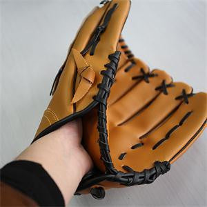 2016 High Quality 12.5 Inch Brown Fast Pitch Leather Softball Glove Outdoor Sports Baseball Pitcher Gloves for Softball Player
