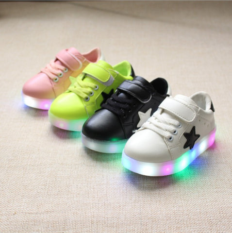 2016  Kids' LED Sneakers children with light  autumn  girls shoes chaussure breathable boys led shoes