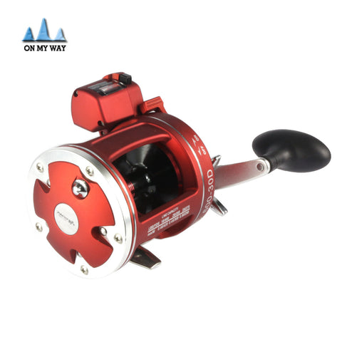 2016 NEW  Red Right  Hand Bait Casting Fishing Reel with counter 12BB High-strength body  cast drum wheel