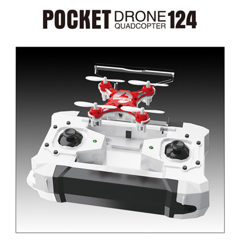 2016 New RC Drone 2.4G 4CH 6-Axis Gyro RTF Pocket Headless Mode Quadcopter Aircraft Toy FQ777 - 124 RC Drones Kids Xmas Gifts