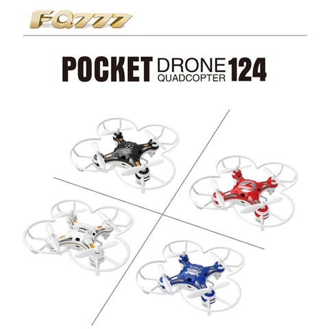 2016 New RC Drone Pocket Drone 4CH 6 Axis Gyro Quadcopter RTF RC Helicopter Toys FQ777-124 FQ777 124 Drones Dron Kids Xmas Gifts