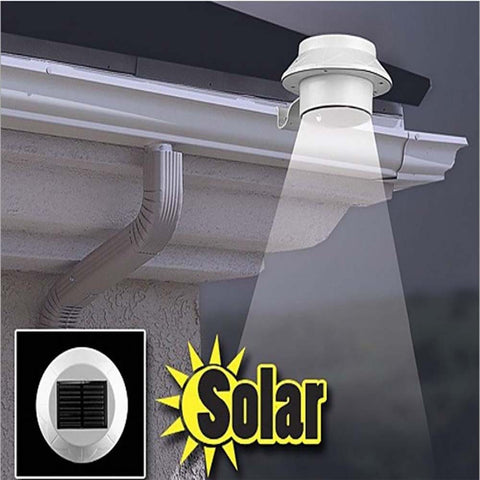 2016 Solar light  Hot White Solar Power 3 LED Fence Sink lighting Outdoor Garden Lobby Pathway Wall Lamp Solar Panels