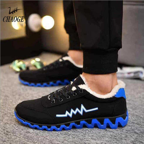 2017 sports cotton shoes non-slip blade running shoes cotton cotton velvet men's winter cotton sports shoes for free shipping#2